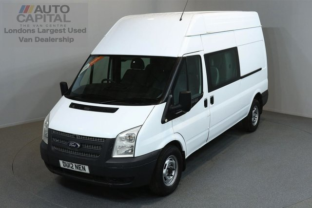 2012 12 FORD TRANSIT 2.2 350 H/R DCB 5d 124 BHP LWB ELECTRIC WINDOWS 6 SEAT COMBI ONE OWNER FROM NEW