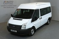 USED 2013 13 FORD TRANSIT 2.2 300 124 BHP L2 H2 MWB MEDIUM ROOF 9 SEATER MINIBUS ONE OWNER FROM NEW, SERVICE HISTORY