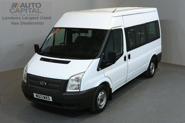 2013 13 FORD TRANSIT 2.2 300 124 BHP L2 H2 MWB MEDIUM ROOF 9 SEATER MINIBUS ONE OWNER FROM NEW, SERVICE HISTORY