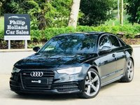 "USED 2013 63 AUDI A6 2.0 TDI BLACK EDITION 4d 175 BHP FULL LEATHER (HEATED), 20"" ALLOYS, DAB RADIO, SAT NAV"