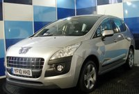 USED 2010 10 PEUGEOT 3008 1.6 SPORT 5d 155 BHP A very clean example of this much admired family crossover finished in unmarked silver metalic paintwork  .This car comes equiped with cruise control combined with speed limiter (ideal for motorway roadworks) air conditioning for the odd sunny day ,plus all the usual refinements . This car offers a elevated seating position and as a consequence genuinely gives a very good allround vision ,this car needs to be driven and viewed to be appreciated