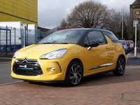 "USED 2014 64 CITROEN DS3 1.6 E-HDI DSTYLE PLUS 3d  £0 ROAD TAX ~ BLUETOOTH ~ FULL HISTORY ~ CRUISE CONTROL ~ REAR PARK SENSORS ~ CLIMATE CONTROL ~ 17"" ALLOYS"