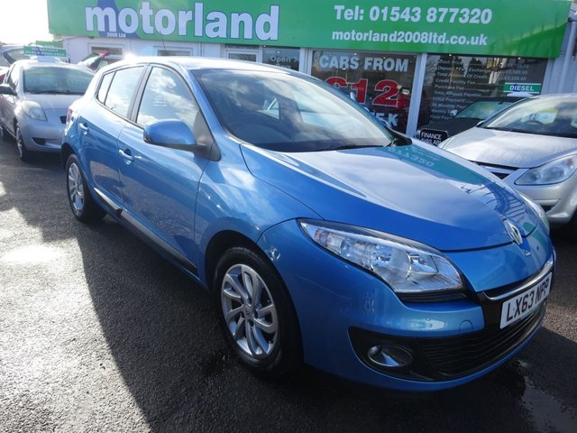USED 2013 63 RENAULT MEGANE 1.5 EXPRESSION PLUS ENERGY DCI S/S 5d 110 BHP £0.00 ROAD TAX