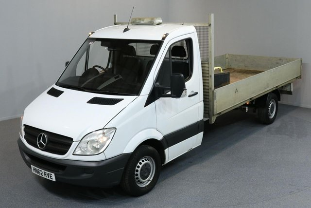 2012 62 MERCEDES-BENZ SPRINTER 2.1 313 CDI LWB 2d 129 BHP DROPSIDE REAR TOW FITTED DROPSIDE LORRY ONE OWNER FROM NEW