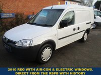 2010 VAUXHALL COMBO WITH AIR-CON & ELECTRIC WINDOWS FROM THE R.S.P.B. £2795.00