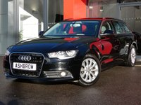 USED 2013 63 AUDI A6 AVANT 2.0 TDI SE 5d AUTO 177 S/S UPGRADE HEATED FRONT SEATS, UPGRADE AUDI MUSIC INTERFACE FOR IPOD / USB DEVICES (AMI), UPGRADE 4 WAY LUMBAR SUPPORT FOR FRONT SEATS, SAT NAV, DAB RADIO, BLUETOOTH PHONE & MUSIC STREAMING, FRONT & REAR PARKING SENSORS WITH DISPLAY, ELECTRIC TAILGATE, FULL LEATHER INTERIOR, LEATHER MULTI FUNCTION TIPTRONIC STEERING WHEEL (PADDLE SHIFT), CRUISE CONTROL, LIGHT & RAIN SENSORS WITH AUTO DIMMING REAR VIEW MIRROR, AUTO HILL HOLD, DRIVE SELECT, 1 OWNER FROM NEW, SERVICE HISTORY