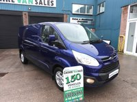 2014 FORD TRANSIT CUSTOM 2.2 310 LIMITED 155 BHP LWB AIR CON AND SAT NAV  £14995.00