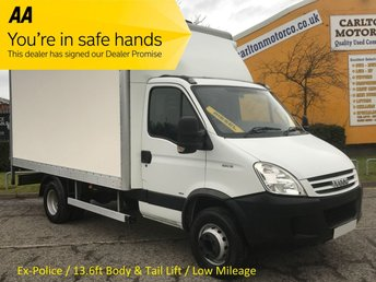 2007 IVECO-FORD DAILY 65C18 Box Van+Tail Lift 13.6ft Body Low Mileage 53k 6.5ton gross 3.0Hpt Ex Met Police Free UK Delivery £9950.00
