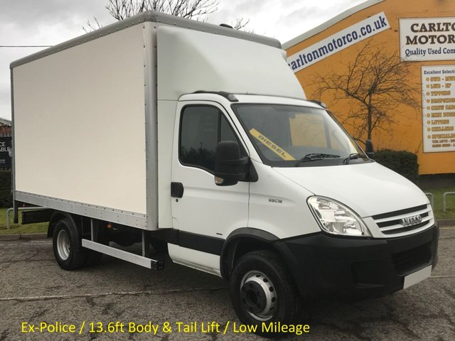 2007 07 IVECO-FORD DAILY 65C18 Box Van+Tail Lift 13.6ft Body Low Mileage 53k 6.5ton gross 3.0Hpt Ex Met Police Free UK Delivery