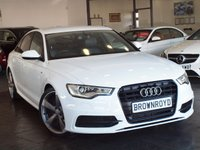 USED 2013 13 AUDI A6 SALOON 2.0 TDI S LINE BLACK EDITION 4d AUTO 175 BHP SAT NAV+BOSE+LEATHER+FASH