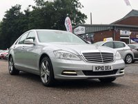USED 2010 10 MERCEDES-BENZ S CLASS 3.0 S350 CDI BLUEEFFICIENCY 4d AUTO 235 BHP 2 PREVIOUS KEEPERS ++  NAVIGATION SYSTEM ++  LEATHER TRIM ++  MOT DECEMBER 2019 ++