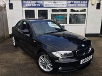 USED 2011 61 BMW 1 SERIES 2.0 120D M SPORT 2d 175 BHP 52K FSH TWO OWNERS 1/2 LEATHER  F/ REAR PARK AIDS  EXCELLENT CONDITION