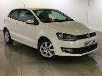 USED 2013 63 VOLKSWAGEN POLO 1.2 MATCH EDITION 3d 59 BHP Ideal First Car/Air Con