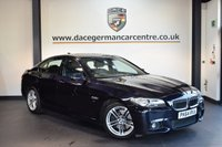 USED 2014 64 BMW 5 SERIES 3.0 530D M SPORT 4DR AUTO 255 BHP + FULL BLACK LEATHER INTERIOR + 1 OWNER FROM NEW + SATELLITE NAVIGATION + HEATED SPORT SEATS + DAB RADIO + RAIN SENSORS + PARKING SENSORS + 18 INCH ALLOY WHEELS +