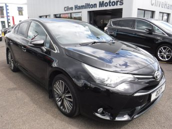 2017 TOYOTA AVENSIS 2.0 D-4D DESIGN 4d 141 BHP 1/2 Leather & Priv Glass £14450.00