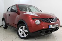 USED 2013 63 NISSAN JUKE 1.5 VISIA DCI 5DR 110 BHP SERVICE HISTORY + BLUETOOTH + CRUISE CONTROL + MULTI FUNCTION WHEEL + AIR CONDITIONING + ALLOY WHEELS