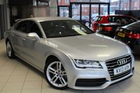 USED 2013 13 AUDI A7 3.0 TDI QUATTRO S LINE 5d AUTO 204 BHP FULL LEATHER SEATS + FULL SERVICE HISTORY + SAT NAV + BLUETOOTH + 19 INCH ALLOYS + XENON HEADLIGHTS + HEATED FRONT SEATS + DAB RADIO + CRUISE CONTROL + PARKING SENSORS