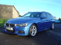 2013 BMW 3 SERIES 2.0 320D M SPORT BLUE PERFORMANCE ESTATE  5d AUTO 181 BHP £15450.00