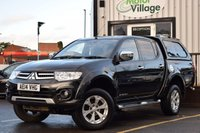 USED 2014 14 MITSUBISHI L200 2.5 DI-D 4X4 BARBARIAN LB DCB 1d 175 BHP NO VAT ON THIS VEHICLE