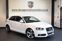 USED 2010 59 AUDI A3 1.6 TDI S LINE 3DR 103 BHP + HALF BLACK LEATHER INTERIOR + SERVICE HISTORY + TELEPHONE FUNCTION + SPORT SEATS + CRUISE CONTROL + HEATED MIRRORS + 18 INCH ALLOY WHEELS +