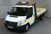 USED 2013 63 FORD TRANSIT 2.2 350 DRW 2d 124 BHP LR LWB RWD REVERSE CAMERA DROPSIDE LORRY   ONE OWNER FROM NEW