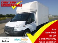 2012 FORD TRANSIT LUTON 350 LWB EF DRW 125ps (Tail Lift) £7995.00