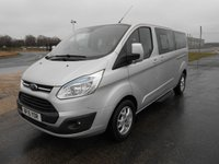 2015 FORD TOURNEO CUSTOM 300 L2 (LWB) Titanium 125ps 9-Seats (Leather & Sat Nav) £13995.00