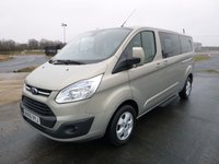 2015 FORD TOURNEO CUSTOM 300 L2 (LWB) Titanium  125ps 9-Seats (Leather & Sat Nav) £15300.00