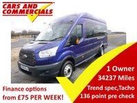 2015 FORD TRANSIT MINIBUS 460 L4 H3 TREND 17-Seats 125ps  £14995.00
