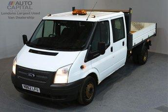 2013 FORD TRANSIT 2.2 350 DRW 4d 124 BHP LR LWB DOUBLE CAB 6 SEAT TIPPER £7890.00