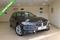 USED 2014 14 BMW 5 SERIES 2.0 525D SE TOURING 5d AUTO 215 BHP SATELLITE NAVIGATION, PANORAMIC SUNROOF, SPORT AND LUMBAR SUPPORT FRONT SEATS, BEIGE DAKOTA LEATHER, PADDLE SHIFT, CRUISE CONTROL, ELECTRIC FOLDING MIRRORS