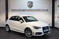 USED 2014 63 AUDI A1 1.6 TDI S LINE 3DR 105 BHP + HALF BLACK LEATHER INTERIOR + FULL SERVICE HISTORY + 1 OWNER FROM NEW + 1 OWNER FROM NEW + SPORT SEATS + RAIN SENSORS + AUXILIARY PORT + HEATED MIRRORS + 18 INCH ALLOY WHEELS +