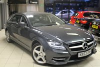 USED 2014 63 MERCEDES-BENZ CLS CLASS 2.1 CLS250 CDI BLUEEFFICIENCY AMG SPORT 5d AUTO 202 BHP FULL LEATHER SEATS + FULL SERVICE HISTORY + BLUETOOTH + DAB RADIO + CRUISE CONTROL + PARKING SENSORS + RAIN SENSORS + 18 INCH ALLOYS