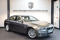 USED 2015 64 BMW 5 SERIES 2.0 520D LUXURY 4DR AUTO 188 BHP + FULL BEIGE LEATHER INTERIOR + FULL BMW SERVICE HISTORY + 1 OWNER FROM NEW + PRO SATELLITE NAVIGATION + HEATED SEATS + DAB RADIO + RAIN SENSORS + PARKING SENSORS + 18 INCH ALLOY WHEELS +