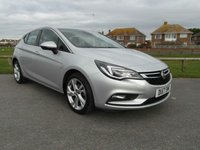 2017 VAUXHALL ASTRA 1.4 SRI 5d 148 BHP SILVER 1 OWNER £12495.00