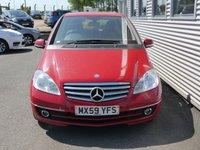 2009 MERCEDES-BENZ A CLASS 1.5 A160 ELEGANCE SE 5d AUTO 95 BHP £5480.00
