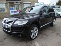 USED 2009 09 VOLKSWAGEN TOUAREG 3.0 V6 ALTITUDE TDI AUTO  ( LEATHER & SAT NAV ) TOP OF THE RANGE ALTITUDE EDITION WITH FULL BLACK LEATHER & SAT NAV MEDIA