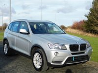 USED 2011 61 BMW X3 2.0 XDRIVE20D SE 5d 181 BHP FULL BLACK LEATHER