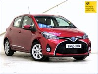 USED 2015 65 TOYOTA YARIS 1.5 HYBRID EXCEL 5d AUTO 73 BHP HALF LEATHER•CAMERA•STYLE PACK