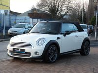 """USED 2011 61 MINI CONVERTIBLE 1.6 COOPER 2d  CHILI PACK ~ MINI HISTORY ~ BLUETOOTH ~ CRUISE CONTROL ~ 17"""" ALLOYS ~ VOICE CONTROL ~ MOOD LIGHTING ~ CLIMATE CONTROL"""