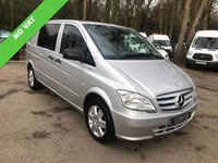 USED 2013 63 MERCEDES-BENZ VITO NO VAT 113 CDI BLUEEFFICIENCY DUALINER SWB NO VAT, Air Conditioning, Bluetooth, Cruise Control