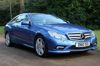 2010 MERCEDES-BENZ E CLASS 3.0 E350 CDI BLUEEFFICIENCY SPORT 2d AUTO 231 BHP £11295.00