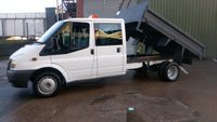 USED 2009 09 FORD TRANSIT 2.4 350 DRW 1d 100 BHP  CREW CAB TIPPER 2 OWNERS PART/S/H 2 KEYS // FREE 12 MONTHS WARRANTY COVER /////