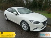 USED 2013 63 MAZDA 6 2.2 D SPORT NAV 4d 148 BHP Stunning Looking Mazda 6 Sport in White with Cream Leather Seats, Satellite Navigation, Climate Control, Cruise Control, 19 Inch Alloys and Service History.