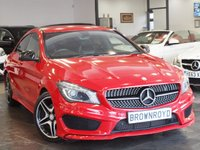 USED 2013 63 MERCEDES-BENZ CLA 2.1 CLA220 CDI AMG SPORT 4d AUTO 170 BHP +HEATED-LTHR+LOW MILES+FMBSH+