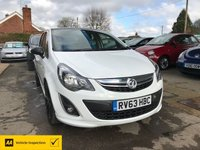 USED 2013 63 VAUXHALL CORSA 1.2 LIMITED EDITION CDTI ECOFLEX 5d 73 BHP NEED FINANCE? WE STRIVE FOR 94% ACCEPTANCE
