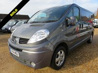 USED 2014 14 RENAULT TRAFIC 2.0 LL29 SPORT DCI LWB 115 BHP 22212 MILES ONLY NO VAT