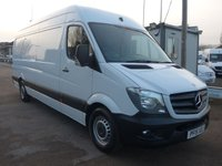 USED 2015 15 MERCEDES-BENZ SPRINTER 313 CDI LWB HI ROOF, 130 BHP [EURO 5], AIR CON, SATNAV, ELECTRIC PACK