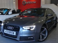 USED 2012 62 AUDI A5 2.0 TDI QUATTRO S LINE BLACK EDITION 2d 177 S/S UPGRADE HEATED FRONT SEATS, REAR SPOILER, BANG & OLUFSEN SOUND SYSTEM, REAR ACOUSTIC PARKING SENSORS, PRIVACY GLASS, DAB RADIO, BLUETOOTH PHONE, QUATTRO 4 WHEEL DRIVE, LED XENON LIGHTS, 19 INCH ROTOR ALLOYS, FULL BLACK LEATHER, SPORT SEATS WITH ELECTRIC LUMBAR SUPPORT, LEATHER FLAT BOTTOM MULTIFUNCTION STEERING WHEEL, LIGHT & RAIN SENSORS, CRUISE CONTROL,  AUDI MUSIC INTERFACE, FULL SERVICE HISTORY