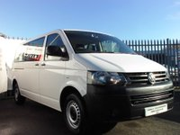 USED 2015 64 VOLKSWAGEN TRANSPORTER SHUTTLE 2.0 TD T30 S Mini Bus 4dr (LWB) 2 OWNERS+AIR CONDITION+9 SEATS